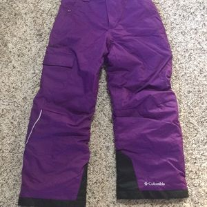 Columbia girls purple snow pants